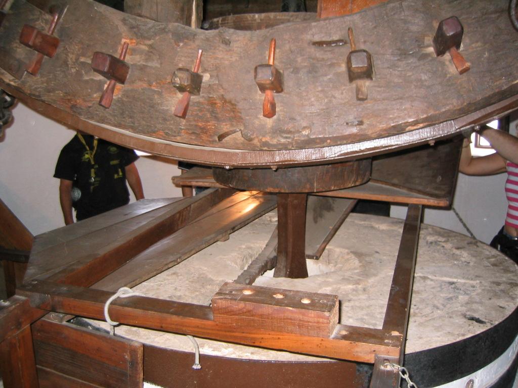 En el interior de uno de los molinos