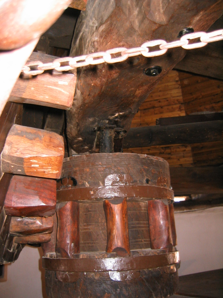 El interior de uno de los molinos
