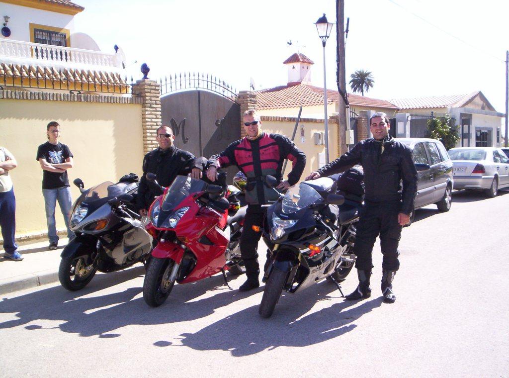 Iniciando la vuelta a casa desde El Puerto de Santa María (Cádiz), marzo 2006