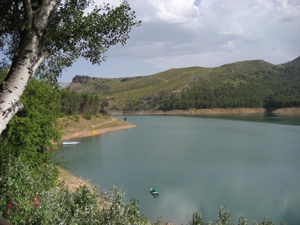 Pantano El Tranco Parque Natural de Cazorla (Jaén), junio 2009