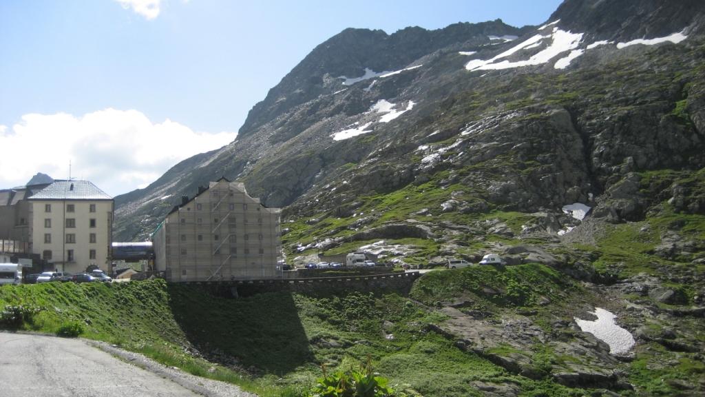 Gran San Bernardo, en la frontera entre Italia y Suiza