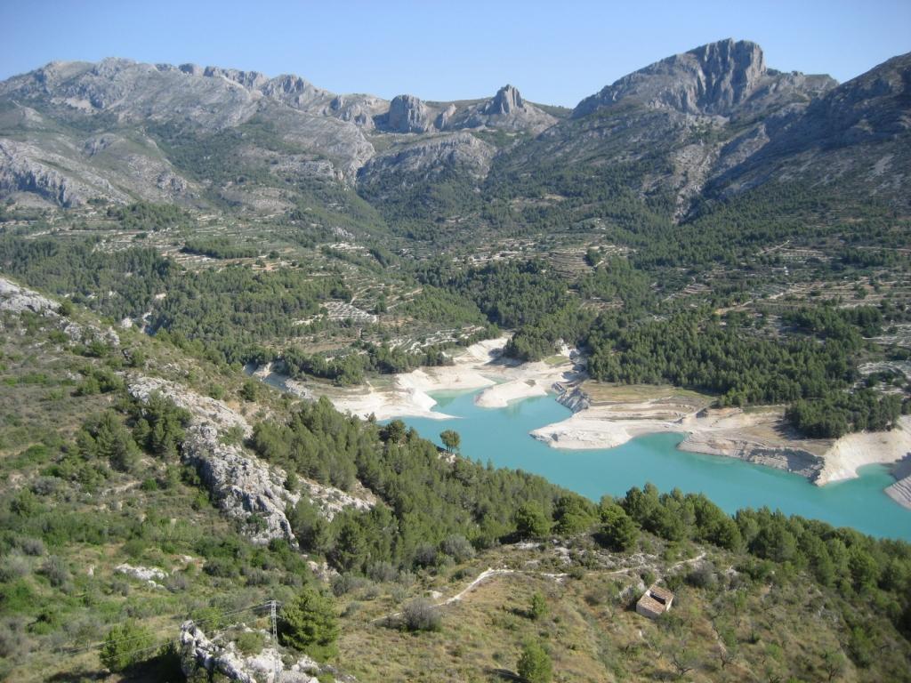 El pantano de Guadalest (Alicante)
